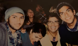 Keerut, his mum, Ammar's mother and Ammar at Bestival in 2012.