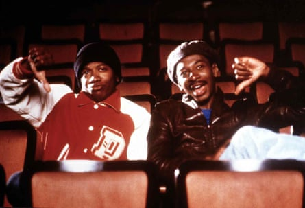 Jimmy Woodward and Robert Townsend in Hollywood Shuffle.