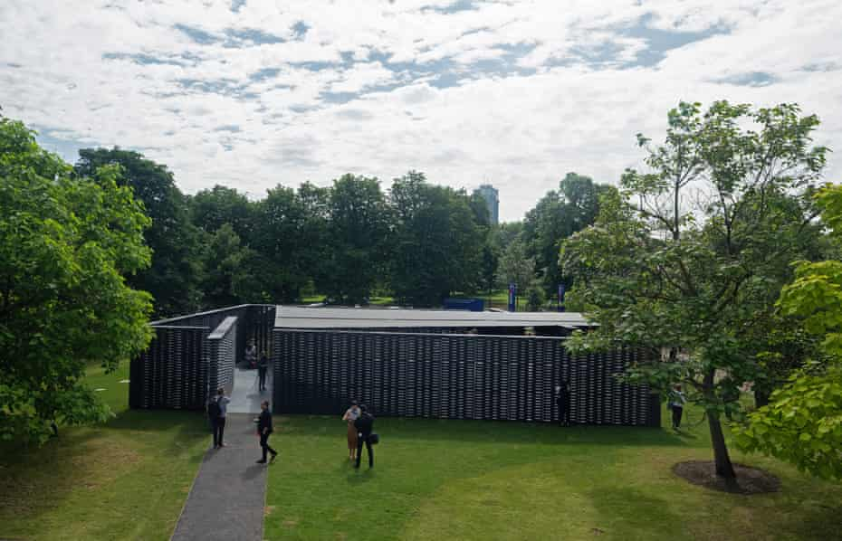 Mexican architect Frida Escobedo's pavilion for the Serpentine Gallery, in London.