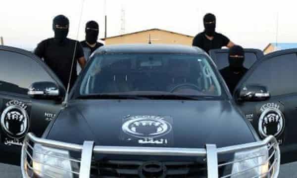 The Masked Team in Zuwara.