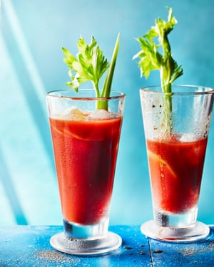 Bloody Mary by Jeremy Lee. The Observer's 20 best tomato recipes supplement. Food Stylist: Kim Morphew Prop stylist: Tamzin Ferdinando