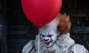 Bill Skarsgård as Pennywise in the 2017 film of Stephen King's It.