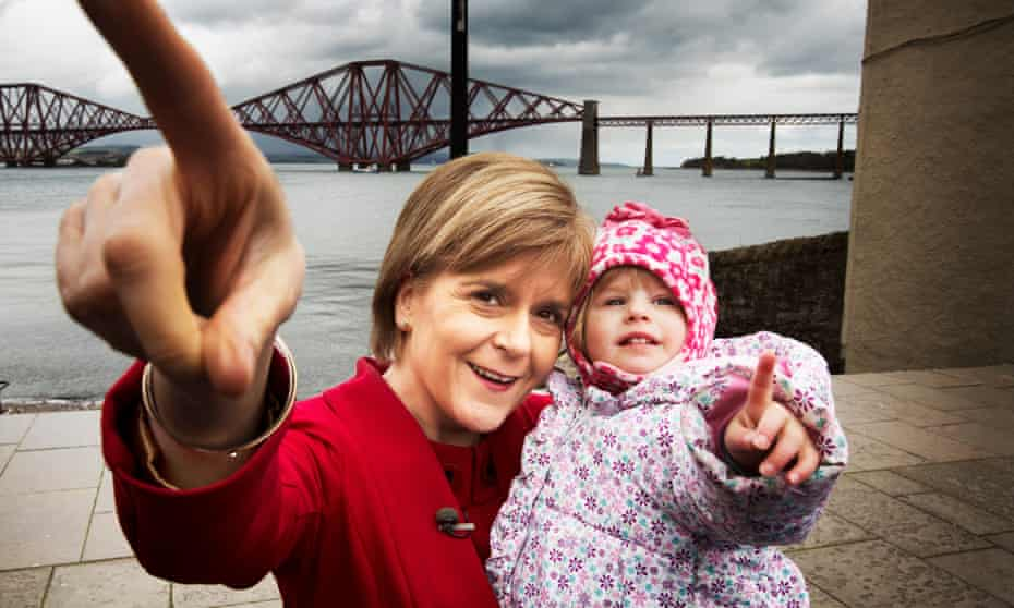 Nicola Sturgeon campaigning in South Queensferry in April 2015.