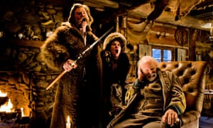 Stuck in the middle of nowhere … Kurt Russell, left, Jennifer Jason Leigh and Bruce Dern in The Hateful Eight.