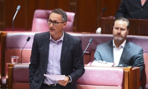 Australian Greens leader Richard Di Natale has been suspended from the Senate.