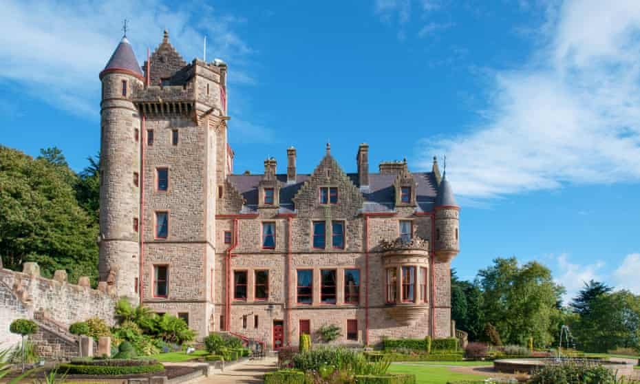 Belfast castle. Tourist attraction on the slopes of Cavehill Country Park in Belfast, Northern IrelandHPHMDF Belfast castle. Tourist attraction on the slopes of Cavehill Country Park in Belfast, Northern Ireland