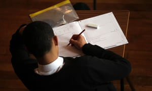 A pupil working