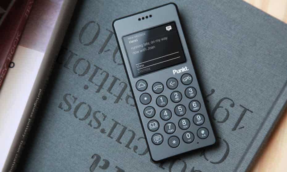 The MP 01 phone, a back-to-basics mobile made by company Punkt