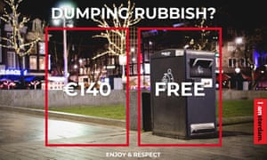 Another of the antisocial behaviour initiative's poster, this one aimed at littering.