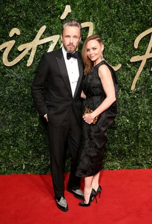 Dress to impress: Stella McCartney with her husband Alasdhair Willis.