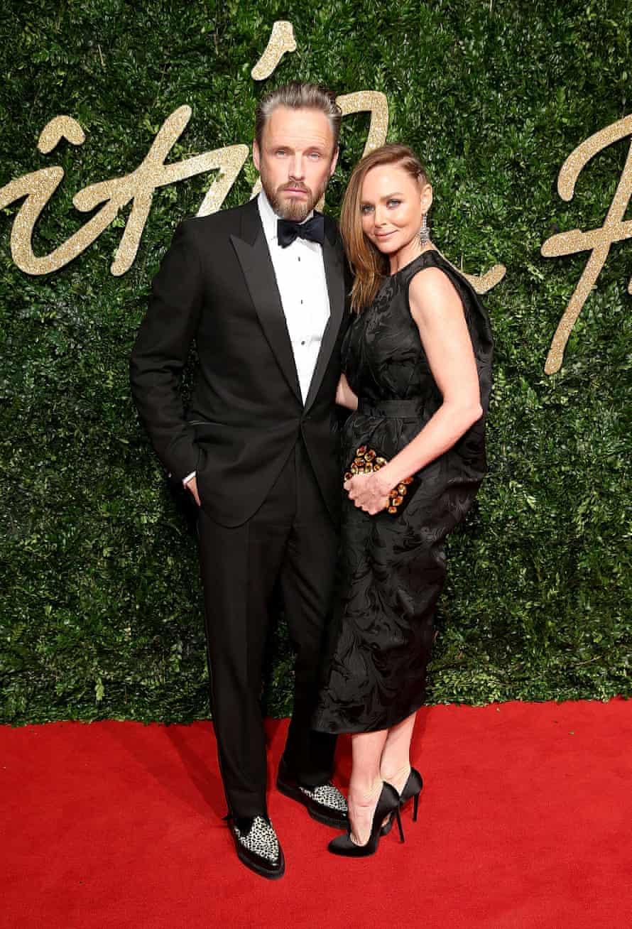 Dress to impress: Stella McCartney with her husband Alasdhair Willis.