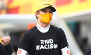 Lando Norris said 'we will have a better structure and better plan in place for the weekend' after disorganised anti-racism gestures at the two previous grands prix.