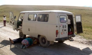 Soviet-style transport in Kyrgyzstan.
