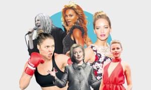 'Badass' women: Patti Smith, Beyoncé, <br> Jennifer Lawrence, Elizabeth Banks, Hillary Clinton, Ronda Rousey.
