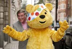 With Pudsey Bear during a Children in Need photo call, in 2008
