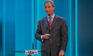 Nigel Farage answers questions from the audience during the ITV referendum debate.