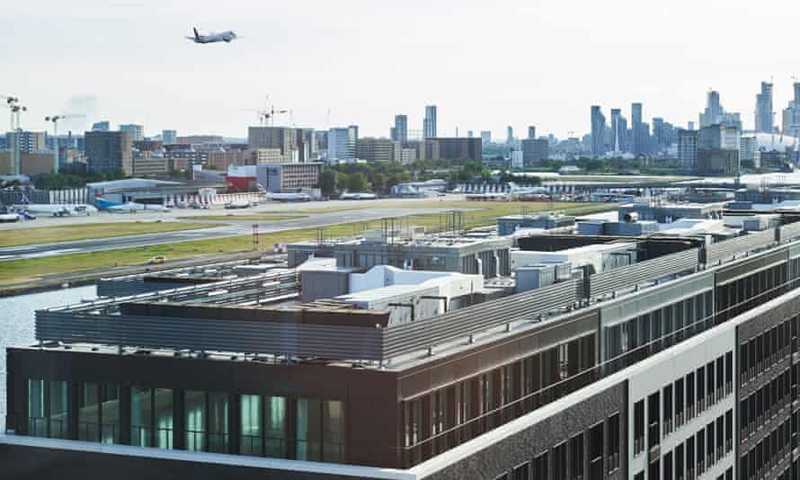 The Royal Albert Docks development, with City airport in the background.