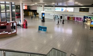An empty Gatwick airport on 2 June