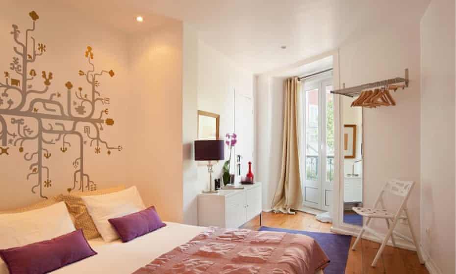 A bedroom at Zuza B&B, Lisbon, Portugal