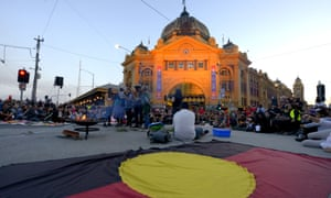 An Aboriginal flag in Melbourne