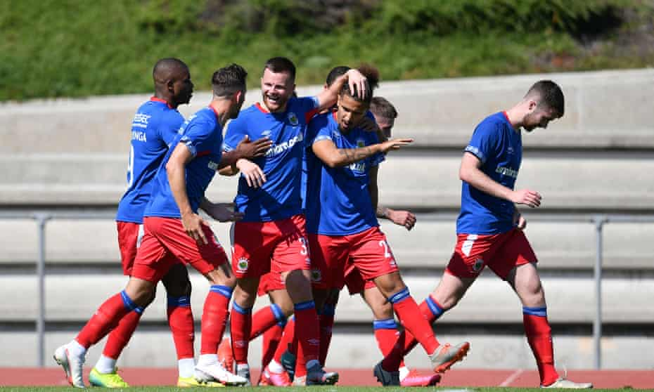 Linfield were due to play the Kosovans of Drita in Nyon, where they beat Tre Fiori of San Marino on Saturday.