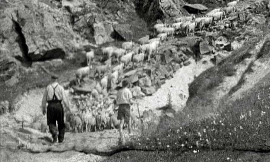 Still from the documentary Lost Treasure, shot chiefly in Sutherland in July 1956.