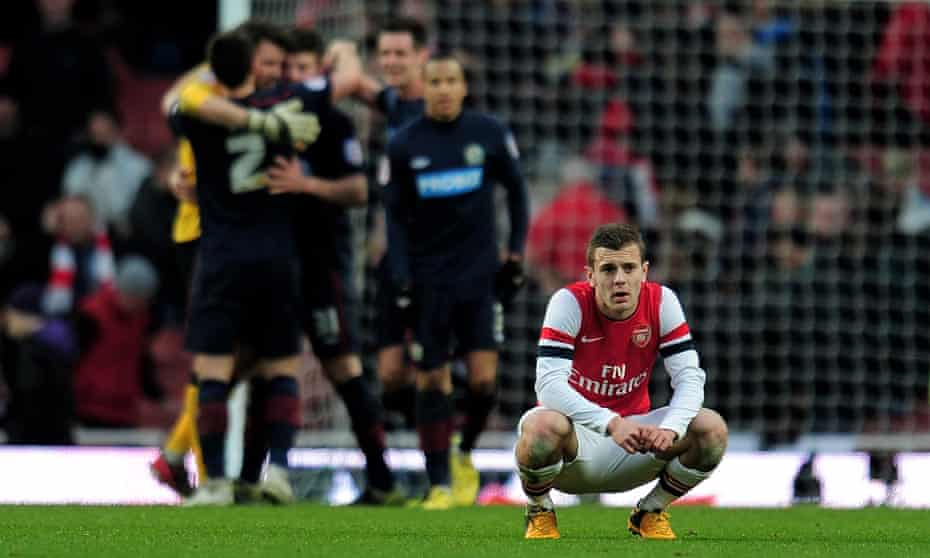 Jack Wilshere ponders Arsenal's exit from the FA Cup after a shock Blackburn Rovers victory.