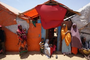 Internally Displaced Persons at the 'KM-13' camp on the outskirts of Mogadishu.