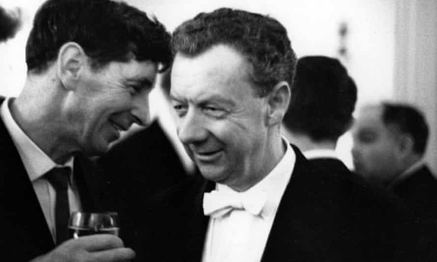 Michael Tippett and Benjamin Britten in 1975