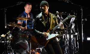 U2's The Edge in Vancouver, 2015.