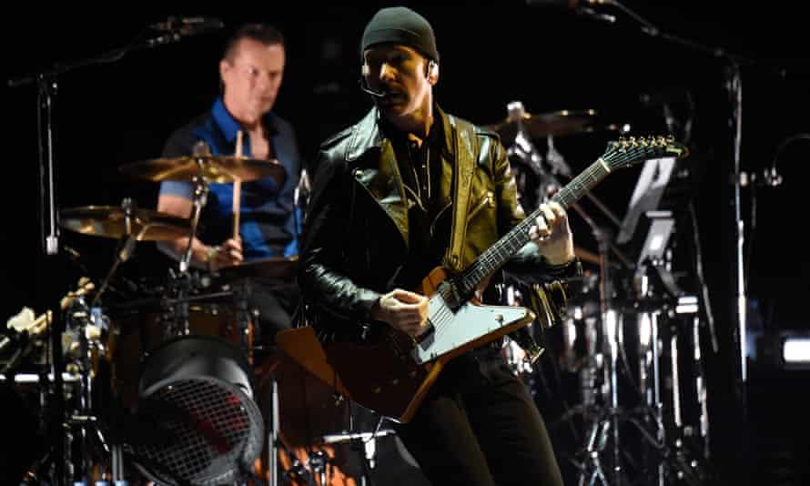 U2's The Edge in Vancouver, 2015.