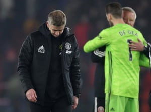 Solskjaer reacts after the 3-3 draw.