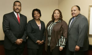 The children of Martin Luther King Jr – Dexter King, Bernice King, Yolanda King and Martin Luther King III – in Atlanta in 2006.