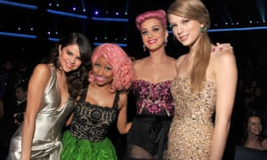 With Selena Gomez, Nicki Minaj and Katy Perry.
