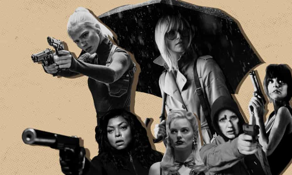 Off target … back row: Anna, Atomic Blonde; front row, Proud Mary, Terminal, Ava, Nikita.