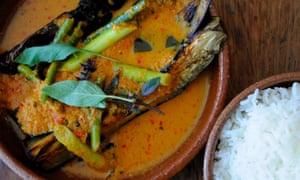 Aubergine curry, Oli's Thai restaurant, Oxford, UK.
