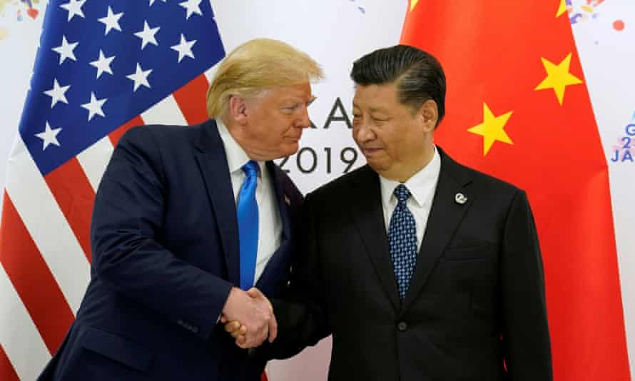 Donald Trump shakes hands with China's President Xi Jinping during the G20 leaders' summit in Osaka, Japan, in June 2019