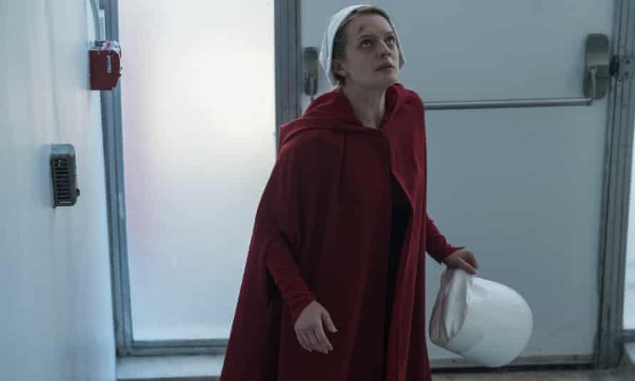 Elisabeth Moss in The Handmaid's Tale: Season Two.