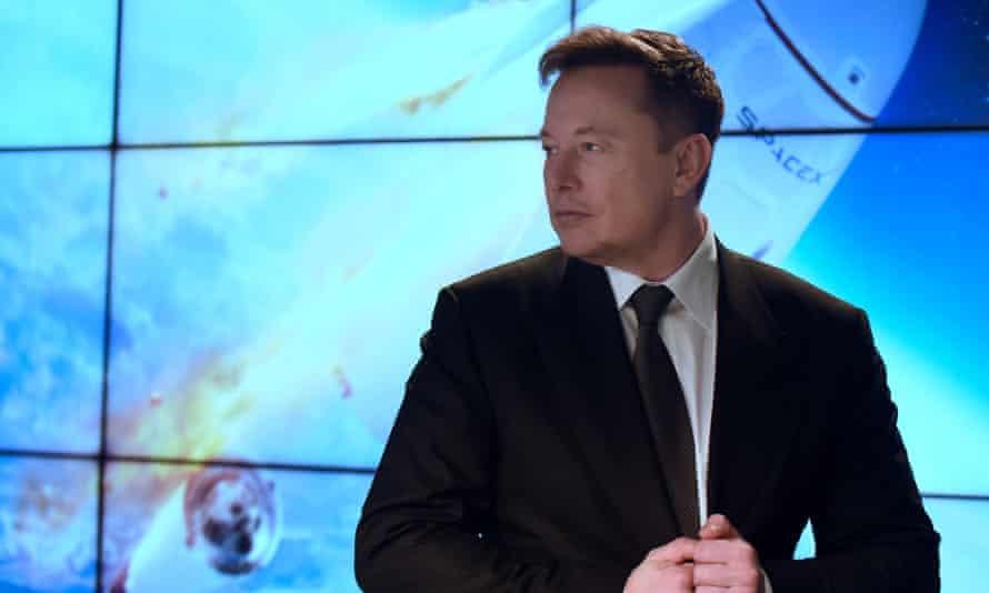 Elon Musk at a test flight