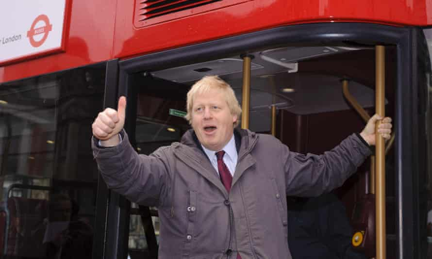 Boris Johnson introduces his New Routemaster to London in December 2011.