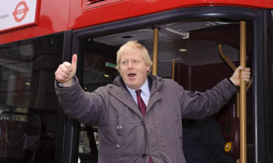 Mobile sweatbox … Boris Johnson launching London's Routemaster bus in 2011.