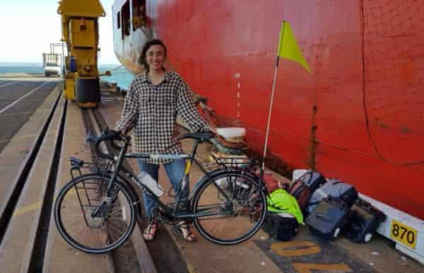 Devi Lockwood the ANL Bindaree cargo ship that took me from New Zealand to Australia.