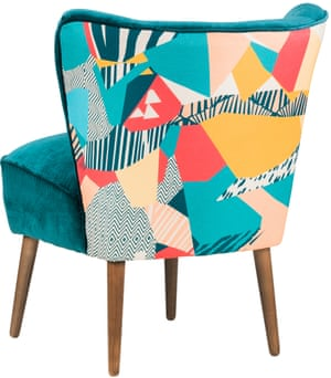 Kitty McCall graphic print on Emilia cocktail chair.