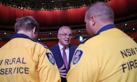 Scott Morrison attends a state memorial honouring victims of the Australian bushfires in Sydney