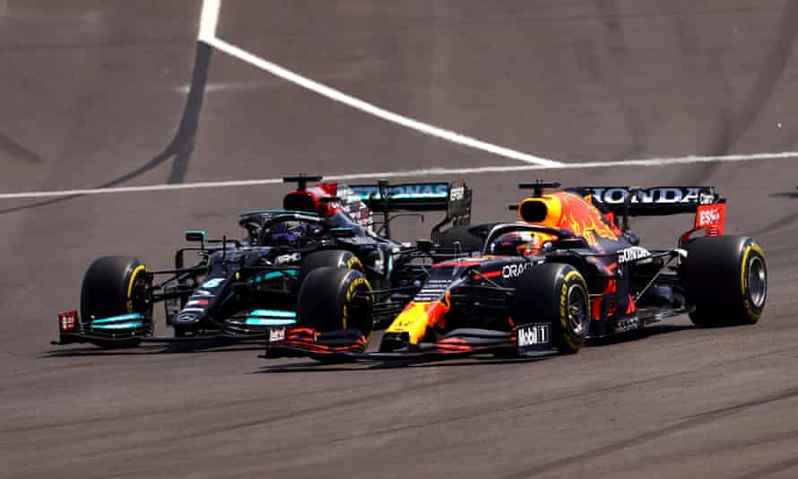 Lewis Hamilton (left) and Max Verstappen again gave each other just enough room to race during their tussle at the Portuguese Grand Prix.