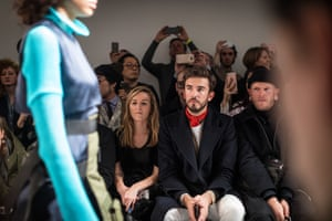 Teo van den Broeke on the front row of the Christopher Raeburn show