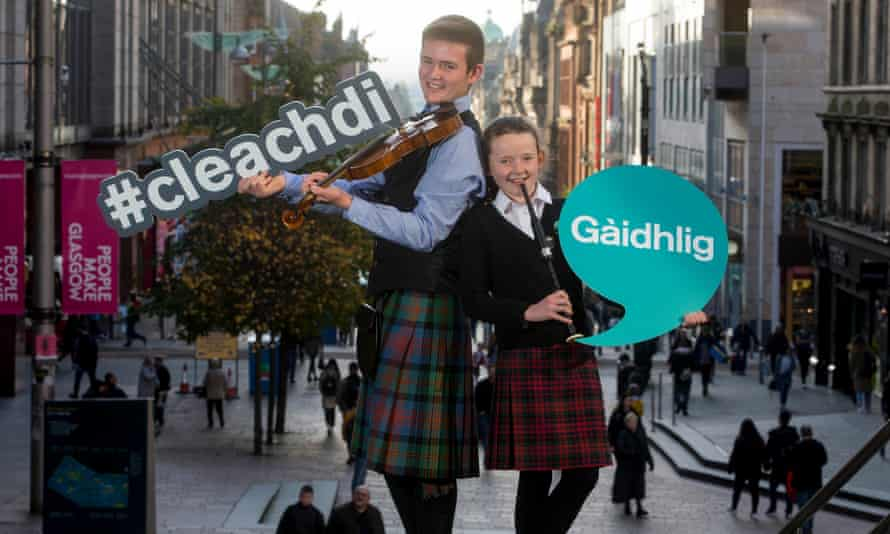 A campaign by the Royal National Mòd in Glasgow to encourage Gaelic with the hashtag #cleachdi or #useit.