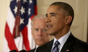 Barack Obama addresses the Iran nuclear deal in July.