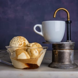 Affogato by Jacob Kenedy. 20 best easy puddings, styled Polly Webb-Wilson.