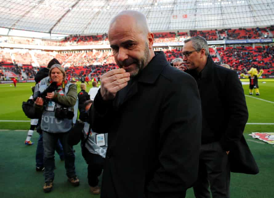 Bayer Leverkusen coach Peter Bosz.